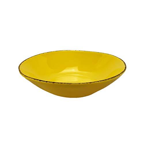 Juego de 6 platos hondos de cerámica Materia 23 cm Arcucci (amarillo)