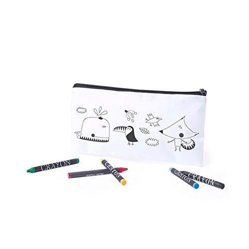 Lote 20 Estuches para Colorear Dibujos Infantiles con 5 Ceras de Colores. Regalos Infantiles para cumpleaños. Detalles Infantiles para Eventos.