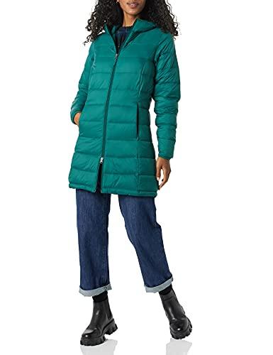 Amazon Essentials Lightweight Water-Resistant Packable Puffer Coat Abrigo de Piel, Verde Oscuro, XL