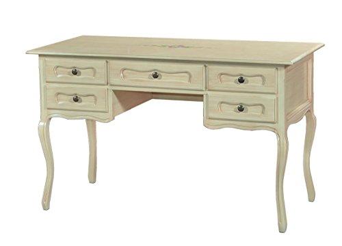 Vintage Home Tavolo scrivania in Legno con Decoro L130x60x79H