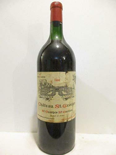 magnum 150 cl saint-georges saint-émilion château saint-georges sce petrus desbois (étiquette abîmée) rouge 1986 - bordeaux