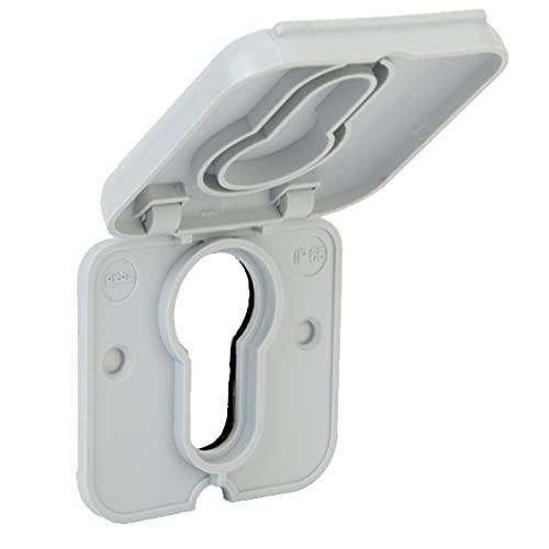 geba Copertura antipioggia, protezione dalle intemperie, protezione dagli sguardi indiscreti, interruttore a chiave da incollare o avvitare