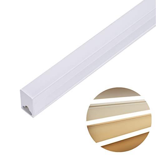 Tubo LED 90CM Luz de Techo 14W 3100lm Tricolor Regulable 3000-6500K Blanco Cálido-Neutro-Frío Luz del Gabinete, Lámpara de Tubo LED para Cocina Garaje Oficina Baño[Clase de eficiencia energética A++]