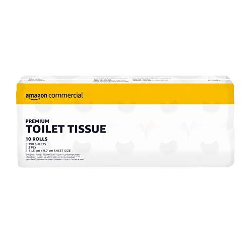 AmazonCommercial Recyceltes Toilettenpapier, 40 Rollen (4 Packungen mit 10 Rollen, 40 X 390 Blatt)