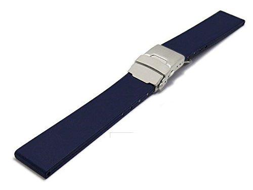 Meyhofer Uhrenarmband Rendsburg 20mm Titan-Faltschließe dunkelblau Kautschuk MyBnskc08/20mm/dblau/TitanFS