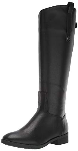 Amazon Essentials Women's Riding Boot, Black, 7 B US