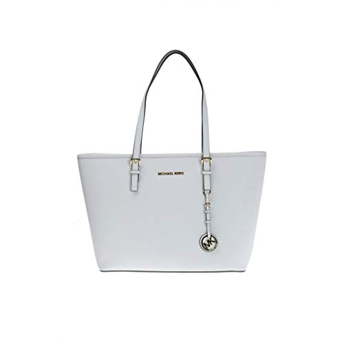 Michael Kors 35H7GTVT2L Jet Set Travel Tote Optic White, Medium