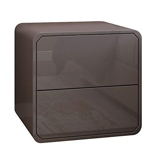 Table de chevet grise avec tiroir de rangement pour chambre à coucher, salon