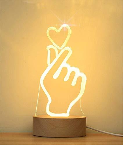 MQW 3D Que La Luz De La Noche del Gesto del Corazón...