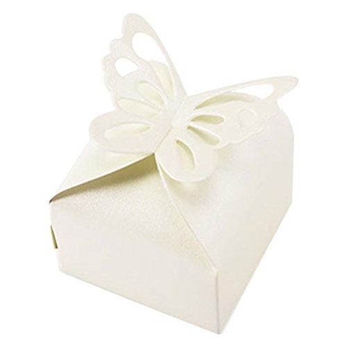 SupplyEU 50st Gastgeschenk Schachtel Geschenkbox Kartonage Bonboniere Box für Hochzeit Party...