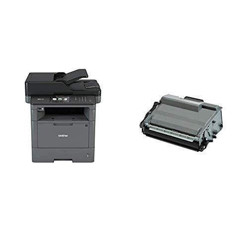 Brother MFC-L5750DW - Impresora multifunción láser Monocromo (Bandeja 250 Hojas, 40 ppm, USB 2.0, Memoria de 256 MB) + Bramacartuchos - Tóner Compatible con Brother Tn3480 Alta Capacidad 8.000