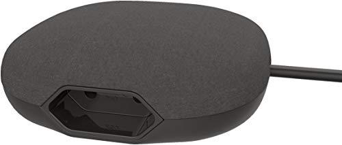 Brennenstuhl estilo regleta de enchufes forma cúbica con 1 enchufe europeo, 2 enchufes USB con superficie textil (estación de carga USB, enchufe extra plano)