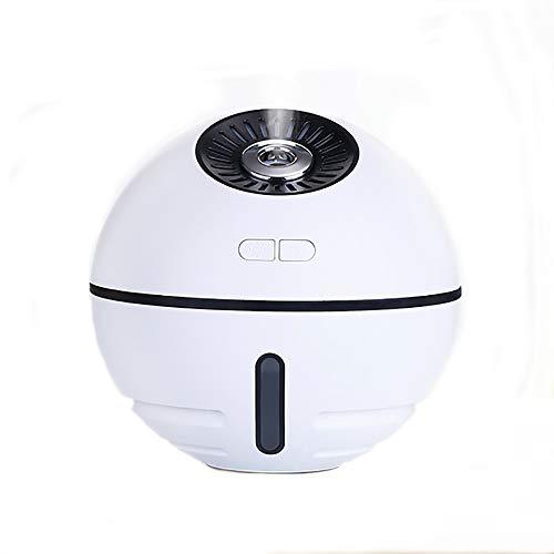 SMILINGGIRL Palla Spaziale Umidificatore Umidificatore USB Da Ufficio Mini Desktop Umido Multifunzione Quattro In Uno,White