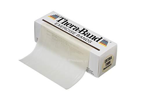 Thera-Band Übungsband / Trainingsband, latexfrei, verschiedene Spannungsgrade und Farben. Gelb gelb 2.5 metre