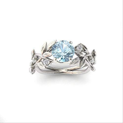 IWINO Fashion Zircon Hand ornamenten Princess verlovingsring Vergulde saffierring