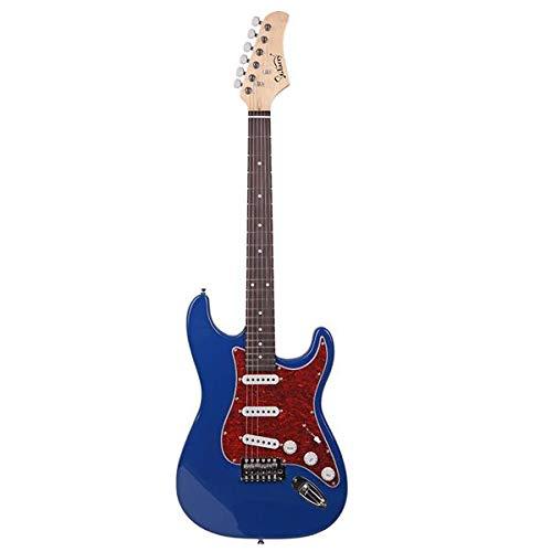 SISHUINIANHUA Glarry GST3 Pearl White-Auswahl-Schutz E-Gitarren-Tasche Schultergurt Whammy Bar Cord Schlüssel-Werkzeug Blau Heben