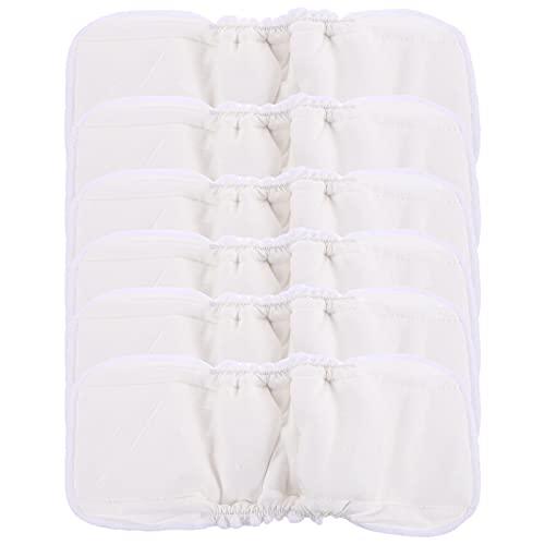 HEALLILY Baby Tuch Windeln Waschbar Mehrweg Bambus Faser Einsätze Tuch Tasche Windeln 6Pcs