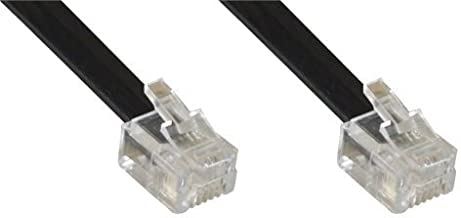InLine 18848 Cable telefónico 1 m Negro - Cable para teléfonos fijos (1 m, RJ12, RJ12, Negro, Male Connector/Male Connector)