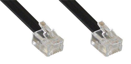 InLine 18849 modulaire kabel RJ12 stekker op stekker 6 aderig 6P6C 20m