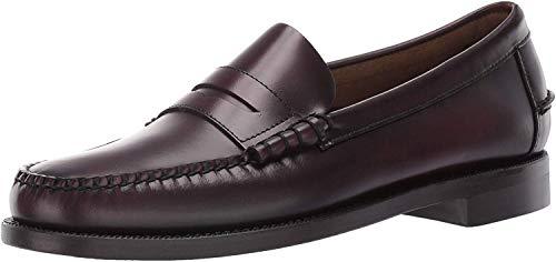 Sebago Mens Classic Dan Burgundy Loafers & Slip Ons Penny Shoes 11.5