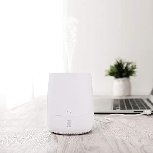 Para HL USB Mini Aromatherapy Diffuser Air Humidifier, difusor de aromas, 7-Cambio de luces de colores, difusor de aceites esenciales, humidificador difusor de esencias para oficina