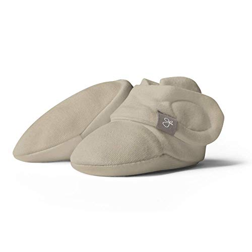 Goumikids goumiboots, Soft Stay On Booties Keeps Feet Warm and Adjusts to Fit as Baby Grows (Soybean, 0-3 Months)