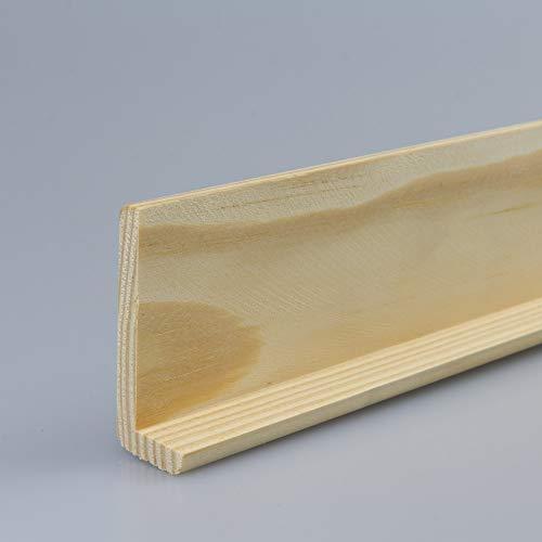 Winkelleiste Schutzwinkel Winkelprofil Tapeten-Eckleiste Abschlussleiste Abdeckleiste aus Kiefer-Massivholz 2400 x 18 x 45 mm