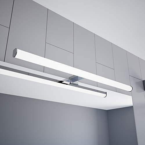 LED Spiegelleuchte 600mm Aufbauleuchte 230V Badezimmer Leuchte verchromt, Auswahl:600mm - Warmweiss