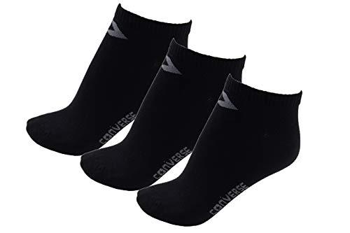 Converse Damen Socken Low Cut 3er Pack Füßlinge 35-38 Schwarz E220B-3009