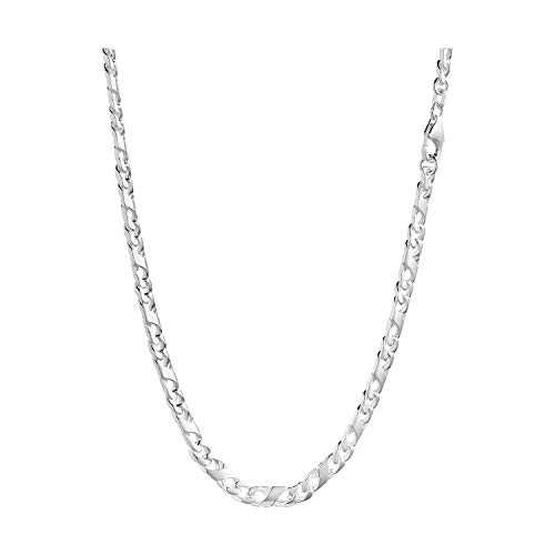 IDENTIM Herren Silberkette 925 Sterling-Silber Herrenkette Breite 5,40mm Dollar-Kette Länge 50cm 55cm 60cm 70cm 80cm 19cm 21cm (55.00)