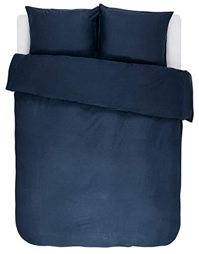 ESSENZA Bettwäsche Minte Uni Baumwollsatin Blau, 135x200 + 1 X 80x80 cm