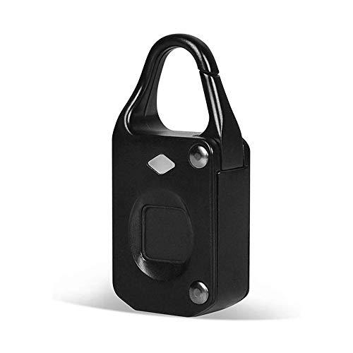 ZYK Fingerprint Padlock-Smart Lock Anti-Theft Keyless Biometric Security Lock USB Charging Ideal for Gym Luggage Backpack Employee Locker Bike Suitcase Fence