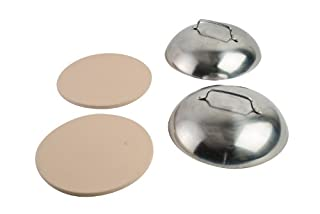 "pizzacraft PC0005 8"" Round Pizza Stones with Stainless Steel Domes, 4 Pc. Set (B008BZ9AKM) 