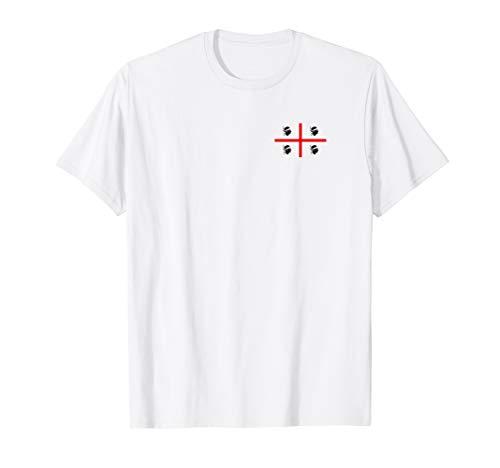 Sardinien Flagge Fahne Klein Sardegna Sardinia Italien T-Shirt