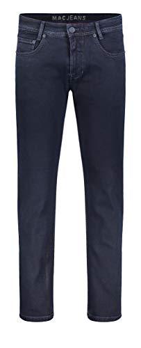 MAC JEANS Herren Hose Modern Fit Arne blau-dunkel, Blue Black, 38W / 32L