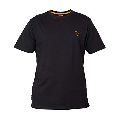 Fox Collection Black Orange T-Shirt - Angelshirt für Karpfenangler & Wallerangler, Shirt für Angler, TShirt, Anglershirt, Größe:XXXL