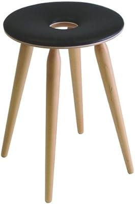 天童木工 リングスツール ブラック S-3165 MP-NT V0199