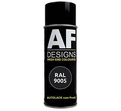 Alex Flittner Designs RAL Lackspray RAL9005 TIEFSCHWARZ matt Autolack Sprühdose Spraydose