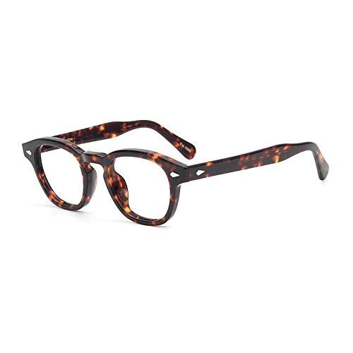 Pirata Capitano Johnny Depp Acetato Ovale Moda Occhiali da lettura ottici Telaio Vintage Uomini e donne Miopia Occhiali da vista (tartaruga)