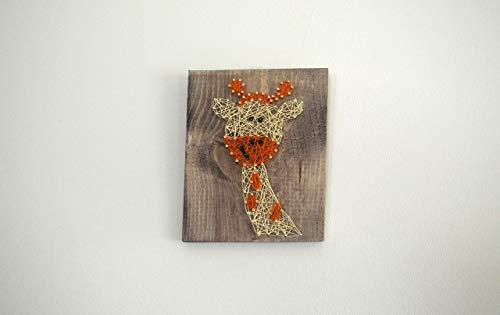 Giraffe String Art Wall Decor Gift, Made to Order