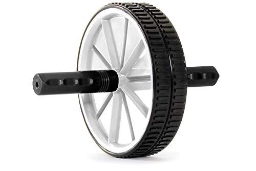 ProsourceFit Dual Ab Wheel Roller, White