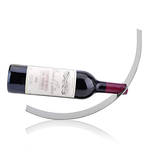 ZHBH Estante para Copas de Vino Small Balance, Moderno, de Acero Inoxidable, para Mesa, para vinos, Soporte para Botellas, de pie, para Bar, Cocina, Restaurante, 35 X 5 X 11 c