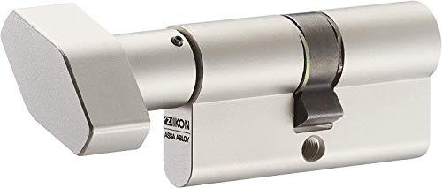IKON RW6 Knaufzylinder 60/50K inkl. 5 Schlüssel - Wendeschlüssel-Sicherheitszylinder - Sicherungskarte - Patentschutz bis 2036 (K=Knaufseite) - Einzelschließung