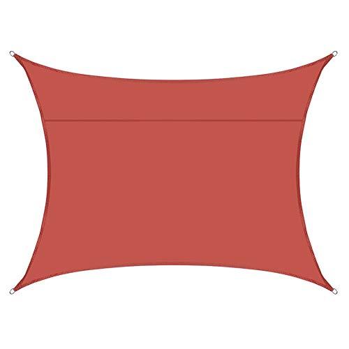 Toldo Anti-Ultravioleta Transpirable Y Resistente Al Desgarro De Tela Oxford Impermeable De Vela De Sombra Cuadrada para Jardín De Terraza Al Aire Libre (6 * 6M,Hierro Rojo)