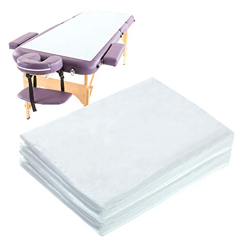 Irenare 30 Pieces Spa Bed Sheets Disposable Massage Table Sheets Set Disposable Non-Woven Bed Sheet Waterproof Bed Cover Non-Woven Fabric, 31.5 x 70.8 Inches