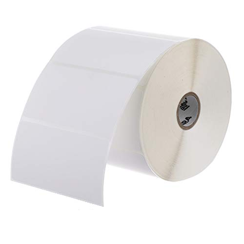 Zebra 4 x 2 in Thermal Transfer Polypropylene Labels PolyPro 3000T Permanent Adhesive Shipping Labels 1 in Core 4 rolls 10031649SP
