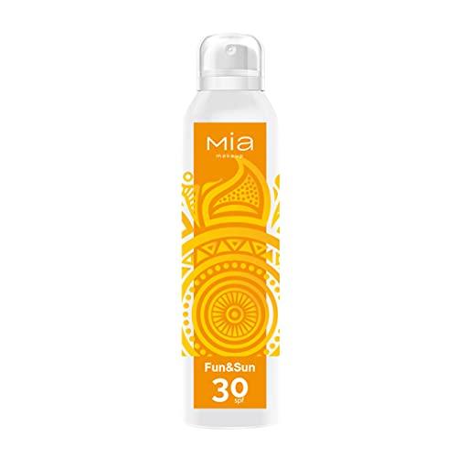 MIA Makeup Fun & Sun Spray Protección solar total SPF30 para un bronceado perfecto, 150 ml