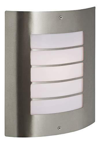 Firstlight Plafonnier 1 x 60 W E27 IP44 Prince Applique murale en acier inoxydable