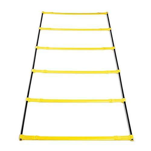 SKLZ Elevation Ladder, Scaletta per l'Agilità con Ostacoli Unisex-Adulto, Nero/Giallo, Taglia unica