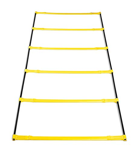 SKLZ Koordinationsleiter Elevation Ladder 2 In 1 und Hürden, Gelb/Schwarz, One Size